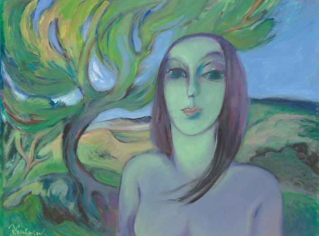Jan van Evelingen – Vrouw en boom I