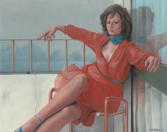 Koos Haijkens – Vrouw met rode jurk