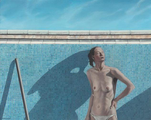 Koos Haijkens – Vrouw in zwembad