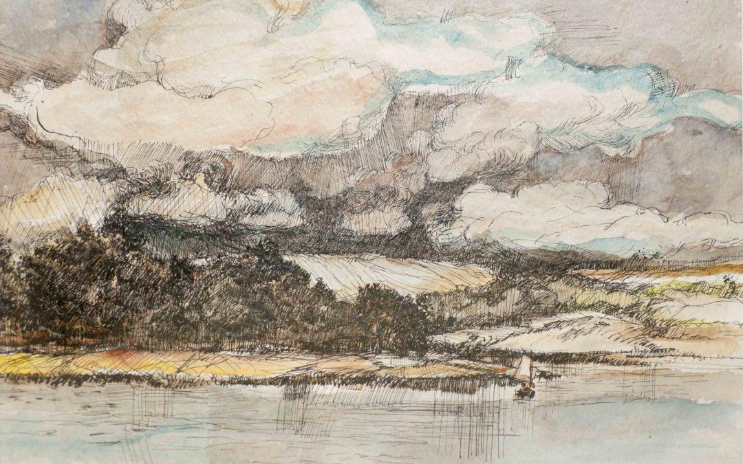 Jan Vluggen – Gezicht op een meer