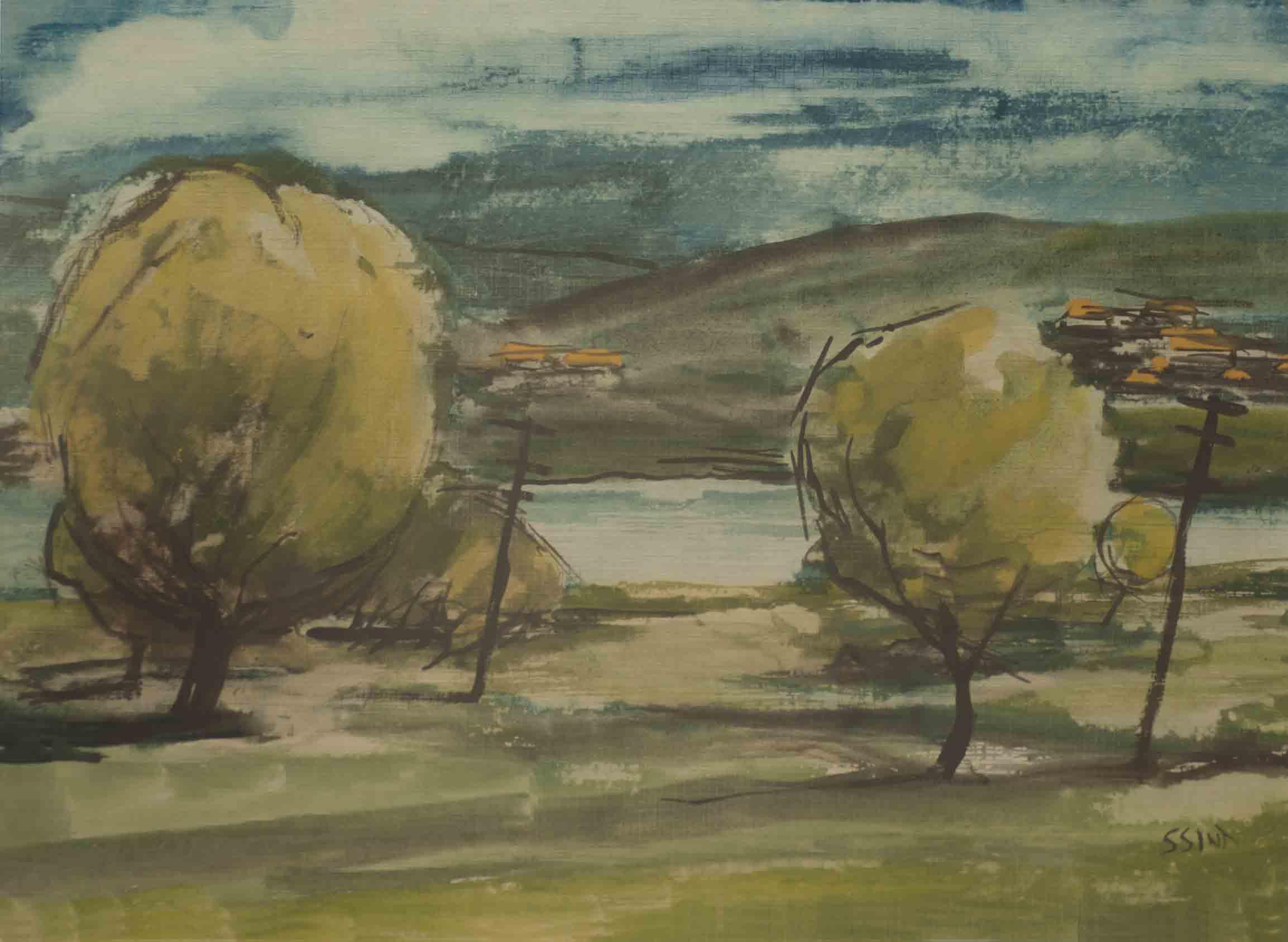 Simon Sint – Landschap met bomen