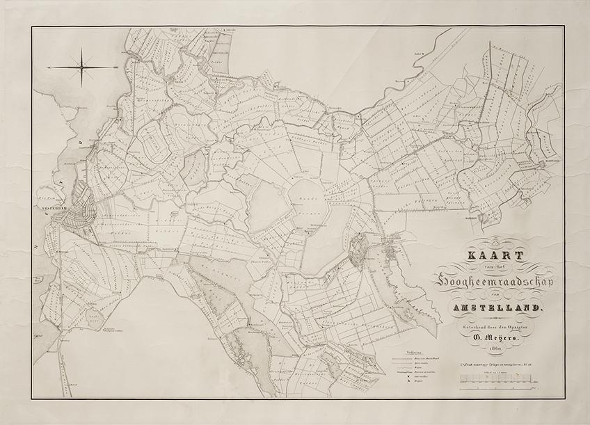 G. Meijers – Kaart van het Hoogheemraadschap Amstelland